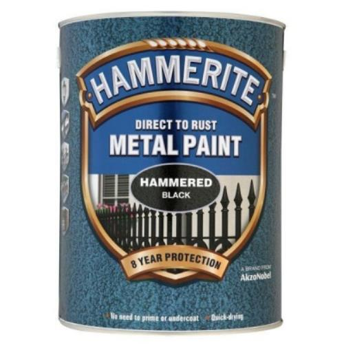 Hammerite HAMMERED BLACK 5 Litre Metal Paint 5084796 - HAM5084796.jpg