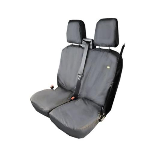 FORD TRANSIT PASS. DOUBLE BLACK SEAT COVERS - FCPBLK-661 - HDDFCPBLK-661.jpg
