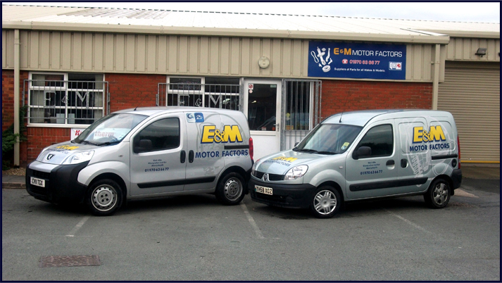 E and M Motor Factors Delivery Vans